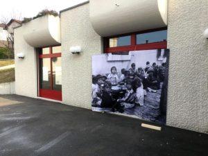 Entrée de l'exposition, Suisse.