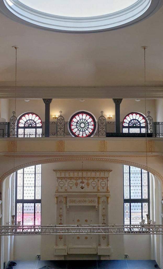 Intérieur du musée-synagogue de Wroclau.